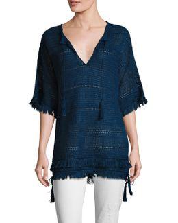 Fringed Linen Tunic