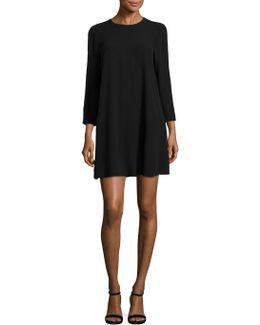 Silk Georgette Bracelet Sleeve Dress