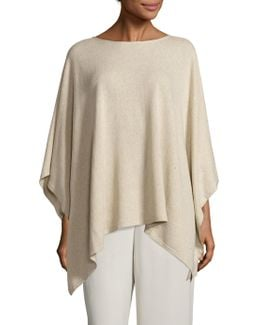 Silk Blend Sequin Poncho