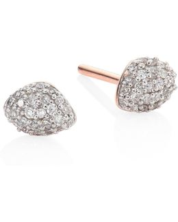 Nura Mini Teardrop Diamond Stud Earrings