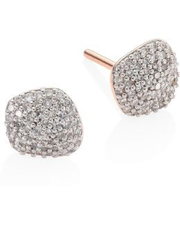 Nura Diamond Nugget Stud Earrings