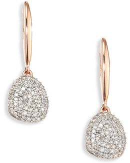 Nura Small Diamond Pebble Drop Earrings