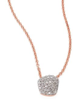 Nura Mini Nugget Diamond Pendant Necklace