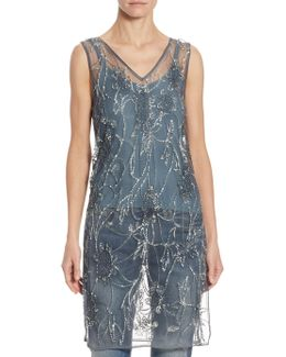 Sequined Tulle Tunic