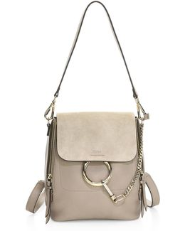 Small Faye Leather & Suede Mini Backpack