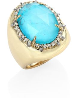 Elements Turquoise & Crystal Ring