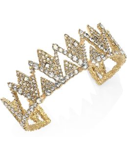 Elements Crystal-encrusted Spiked Lattice Cuff