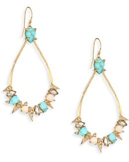 Elements Pave Spike Crystal Drop Earrings