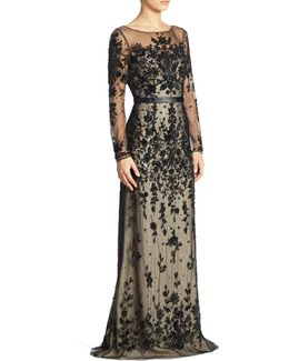 Ills Floral Embellished Gown