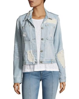 The Dolly Distressed Denim Jacket