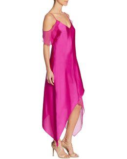 Cold-shoulder Slip Dress