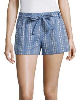 Chambray Jacquard Shorts