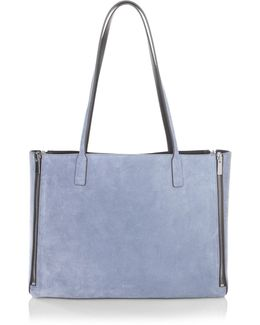 Riley Reversible Leather & Suede Tote