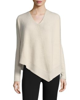 Cashmere & Silk Asymmetric Top