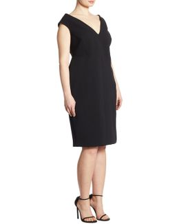 The Shapely Project: X Ashley Graham Portrait Collar Dress