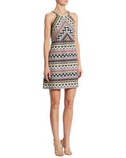 Jacquard Halter Dress