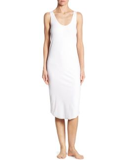 Rib-knit Stretch-cotton Tank Dress