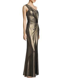 Knotted One Shoulder Gown