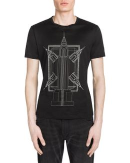 Empire State Building Print Tee