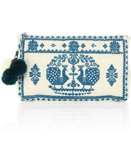 Palma Embroidered Pouch