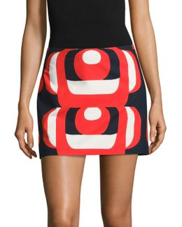Amphora Printed Mini Skirt