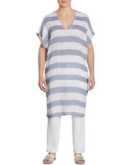 Long Striped Linen Tunic