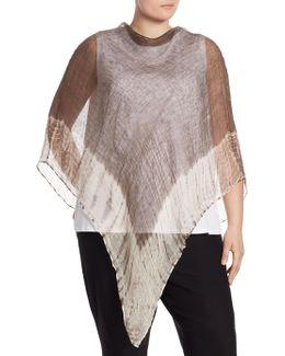 Plus Size Linen Poncho