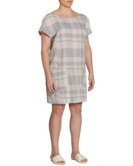 Plaid Organic Linen & Organic Cotton Dress