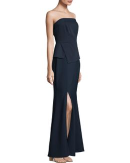 Strapless Floor-length Gown