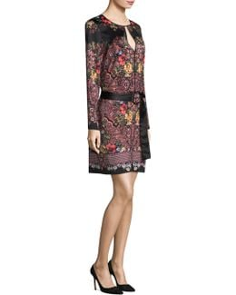 Placement Printed Sheath Dress