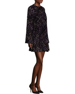 Printed Plaid Shift Dress