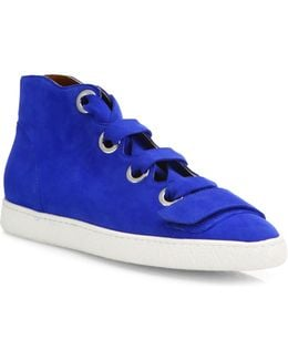 Serena Suede High-top Sneakers