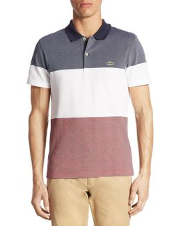 Striped Textured Cotton Polo