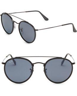 Rb3647n51 Aviator Round Metal Sunglasses