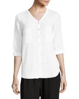 Organic Cotton Gauze Shir