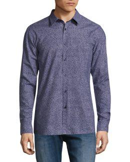 Elisha Abstract-print Slim-fit Shirt