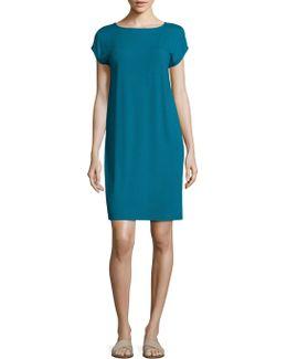 Cap Sleeve Jersey Shift Dress
