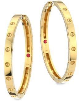 Symphony Pois Mois Large 18k Yellow Gold Hoop Earrings/1.25