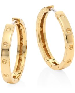 Symphony 18k Yellow Gold Hoop Earrings/0.75
