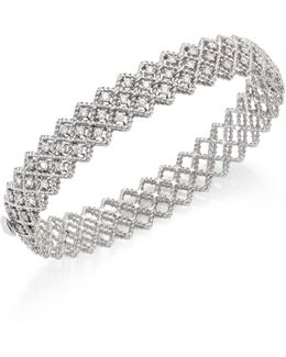 Barocco Diamond & 18k White Gold Bangle