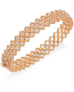 Barocco Diamond & 18k Rose Gold Bangle