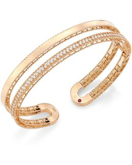 Double Symphony Diamond & 18k Rose Gold Bangle