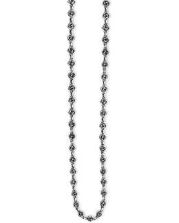 Rose Motif Neck Sterling Silver Necklace