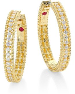 Symphony Diamond & 18k Yellow Gold Hoop Earrings/0.75