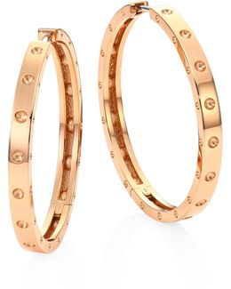 Symphony Pois Mois Large 18k Rose Gold Hoop Earrings/1.25
