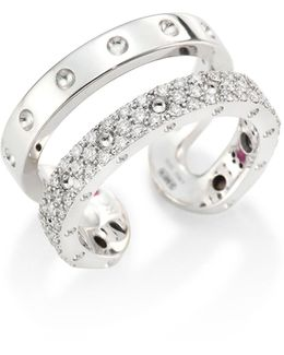 Double Symphony Diamond & 18k White Gold Ring