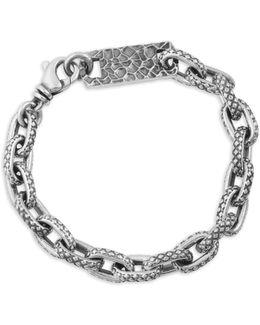 Oval Link Sterling Silver Bracelet