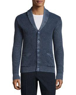 Linen-blend Textured Sweater