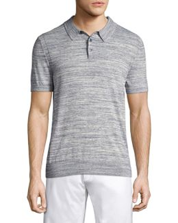 Heather Midnight Regular-fit Polo
