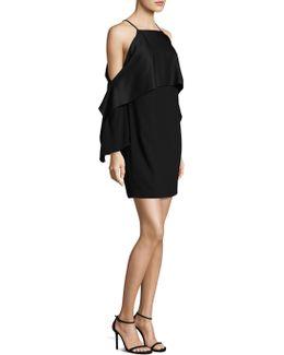 Cold Shoulder Cape Dress